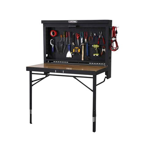 wall mounted work table lifetime 80421 garage fold up work table on sale with fast