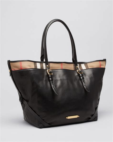 Burberry Tote by Lyst Burberry Tote Bridle House Check Medium Salisbury