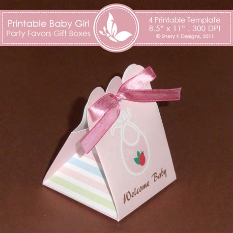 favor templates best photos of template baby box baby onesie favor box