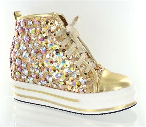 gold sequin high top sneakers 25 best sequin boots and blingy sneakers images on