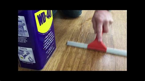 how to repair squeaky floorboards yourself tiphero fix your squeaky floors with wd 40 youtube