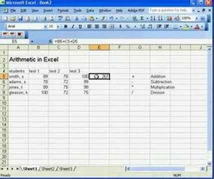 Mat Excel by Basic Math In Excel