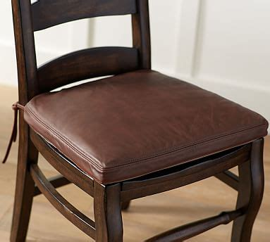 Pottery Barn Leather Dining Chair Pb Classic Leather Dining Chair Cushion Pottery Barn