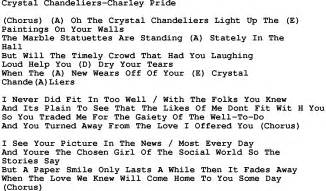 Chandelier Song Country Chandeliers Pride Lyrics And