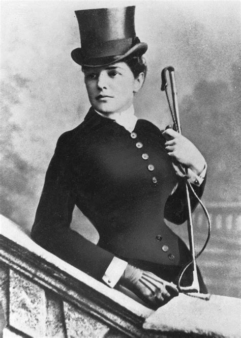 ca 1883 85 jennie churchill in riding habit grand ladies