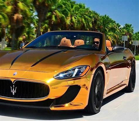 gold maserati maserati gt cabrio in gold foil automotive eye
