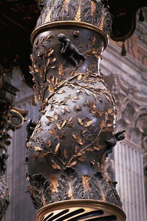 baldacchino di s pietro architettura barocca dettaglio colonna baldacchino di