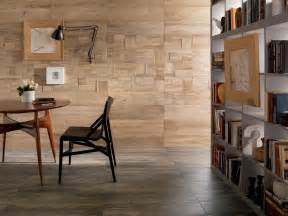 medium contrasting wooden floor and wall tiles olpos design