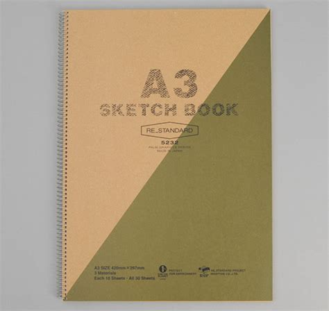 sketchbook a3 a3 size sketchbook green hickoree s