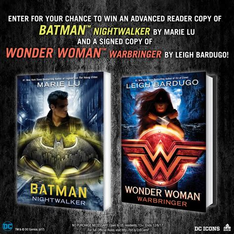 About Com Sweepstakes One Entry - enter the batman nightwalker arc and signed wonder woman warbringer sweepstakes