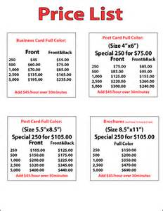 business card printing price list the lowest cost highest quality sign company on the