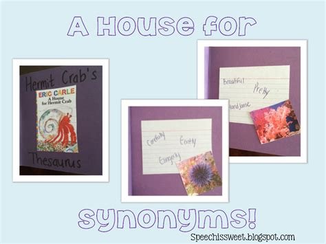 speech is sweet a house for synonyms
