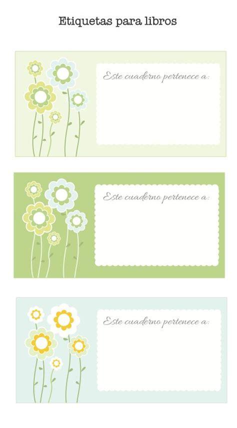 etiquetas para poner nombre a los cuadernos colorear etiquetas para poner el nombre a los libros puedes