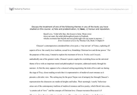 Chaucer Essay by Chaucer Criseyde Essay Study Troilu