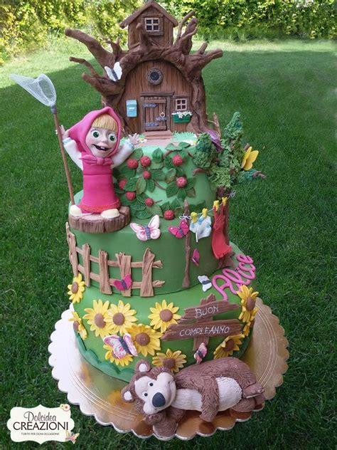 Gamis Masha Picnic torta masha e orso masha and the cake torte cakes cakes the and