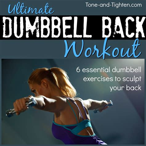 hiit workout dumbbell exercises for womens back
