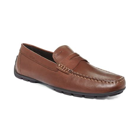 geox mens loafers geox monet loafers in brown for coffee lyst