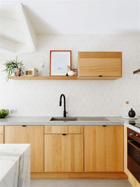 Organic Kitchen Design by Organic Modern Concrete Countertops Wood Cabinets White