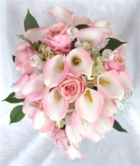 Set Lili Blue Pink reserved blush pink and calla cascading bridal