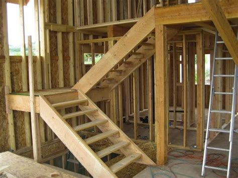 How To Build Interior Stairs With A Landing by How To Build Stairs Bob Vila