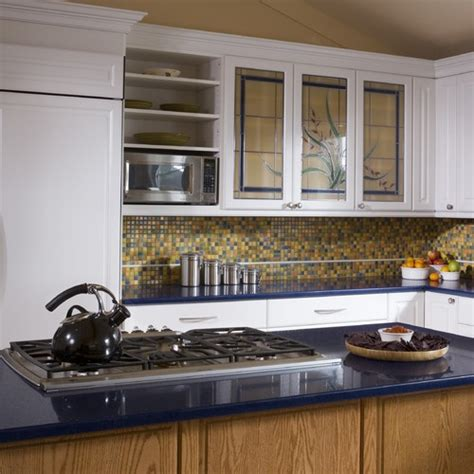 yellow kitchen backsplash ideas blue and yellow tile backsplash classic blue yellow