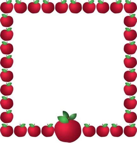 free printable apple stationery apples borders frames escola pinterest rahmen und
