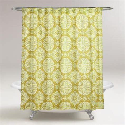 medallion shower curtain oasis green amina medallion shower curtain world market