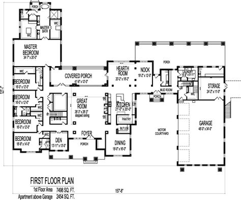 large bungalow floor plans large 6 bedroom bungalow 10000 sf one storey dream house
