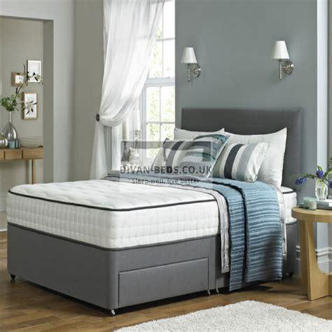divan beds leather divan bed with memory foam mattress