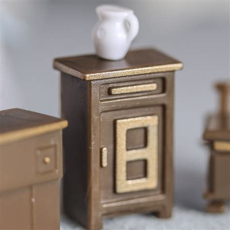 doll house accesories miniature doll furniture mahogany wood stool chair dollhouse miniature furniture