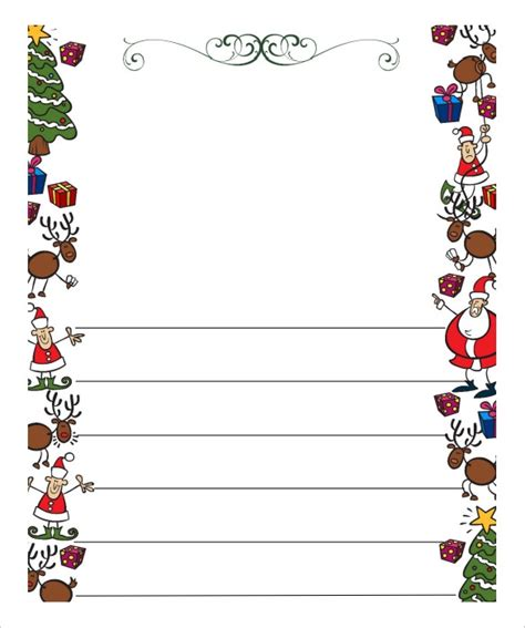santa letter template free word blank letter from santa template free invitation template