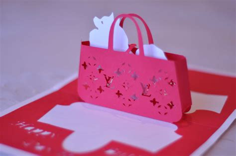 creative pop up cards templates free gift purse pop up card lv bag part 1 creative pop up cards
