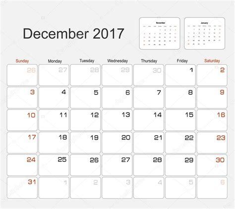 Calendario Dicembre 2017 Calendario Dicembre 2017 Vettoriali Stock 169 Mitay20