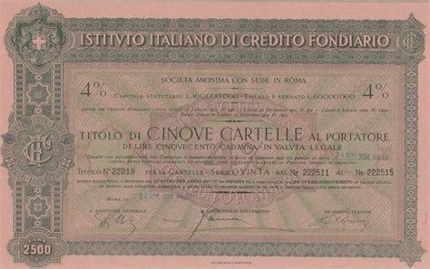 di credito italiano istituto italiano di credito fondiario scripomuseum