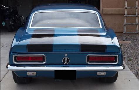 black camaro with blue stripes 1967 chevrolet camaro rs blue with black racing stripes