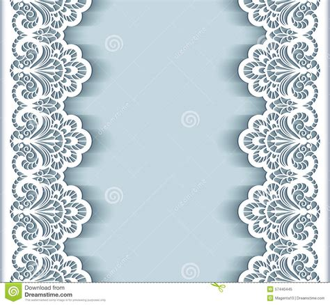 paper lace templates card paper lace border background stock vector illustration