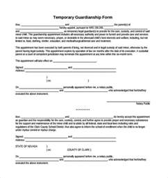 Temporary Appointment Letter Template Sample Temporary Guardianship Form 8 Download Documents