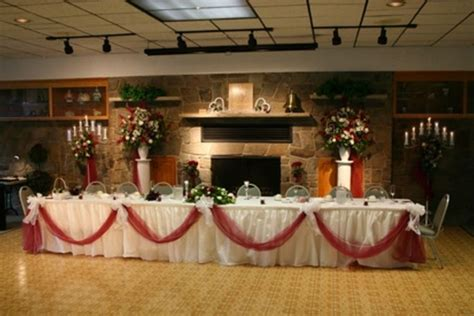 hall decoration ideas reception hallincluding vasestable drapes chair ties