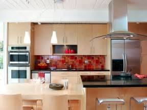 red kitchen backsplash tile glass backsplash