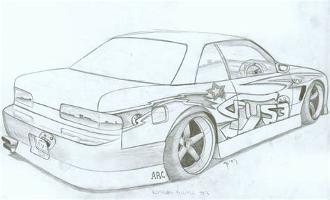 coloring pages drifting cars nissan s13 by fuseest on deviantart