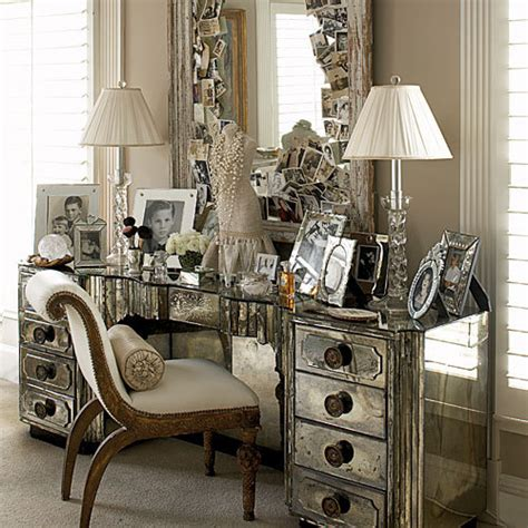 mirrored bedroom vanity dishfunctional designs you re so vain vintage vanities