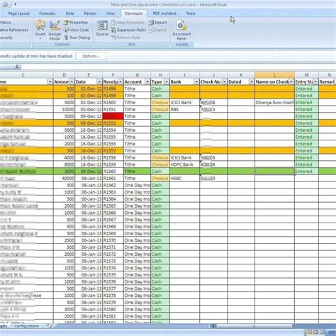 Church Tithes And Offerings Record Keeping Laobingkaisuo In Church Tithe And Offering Church Tithing Excel Template