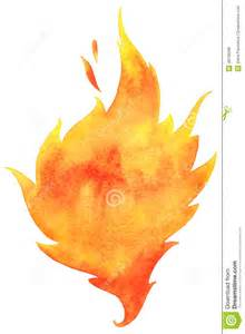 watercolor vector fire stock vector image 48139288