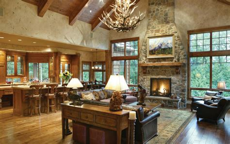 rustic open floor plans open rustic ranch floor plan