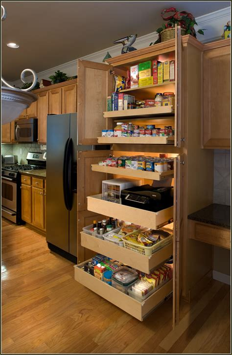 Sliding Pantry Shelves Lowes by Narrow Pull Out Pantry Cabinet How To Install Pull Out