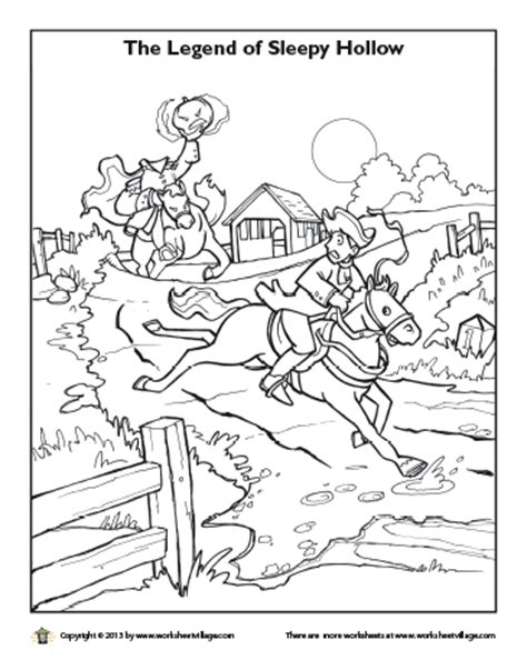 the gallery for gt headless horseman coloring page