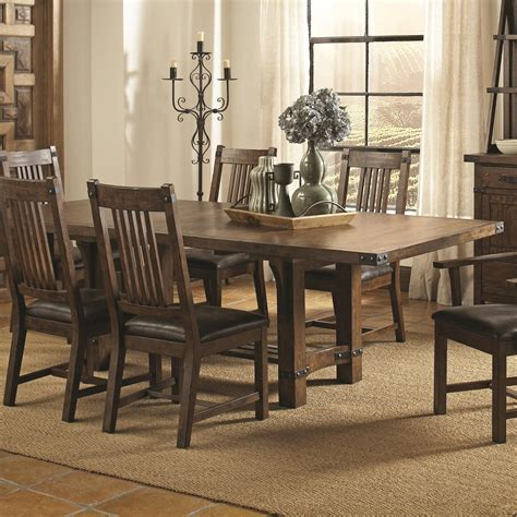 dining room outlet coaster padima dining table in rustic cognac 105701 by