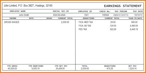 pdf pay stub template free free check stub template printables template business