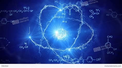 Best Live Action Anime by Shiny Atom Model And Chemistry Formulas Loopable Stock