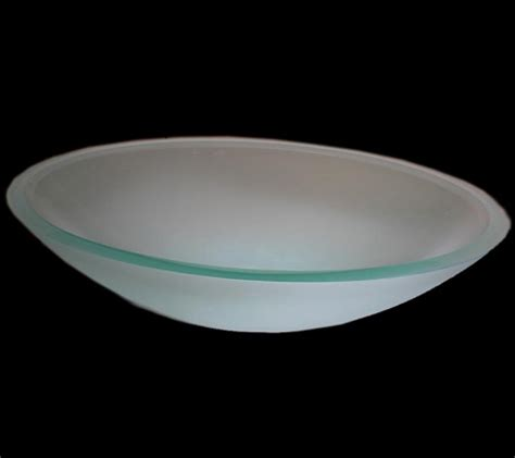 frosted glass vessel sink oval semi frosted glass vessel sink uvlfb5sf